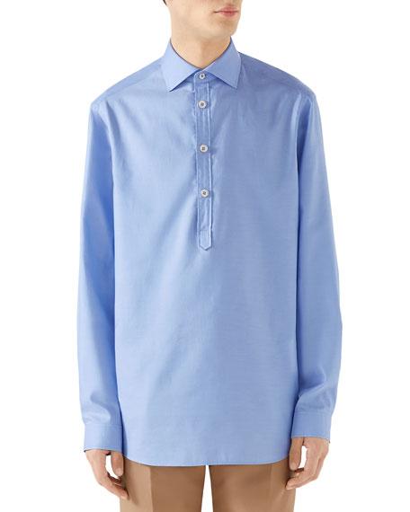 Men's Quarter-Placket Oxford Shirt