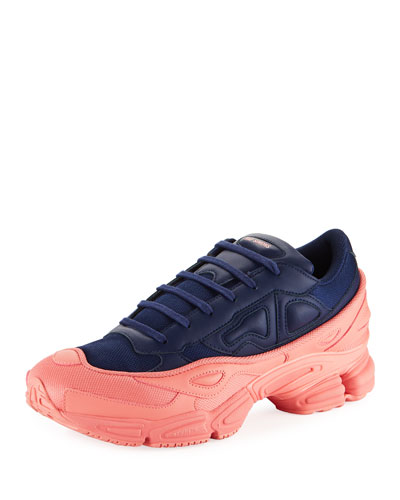 Men's Ozweego Dipped Color Trainer Sneakers, Blue/Pink