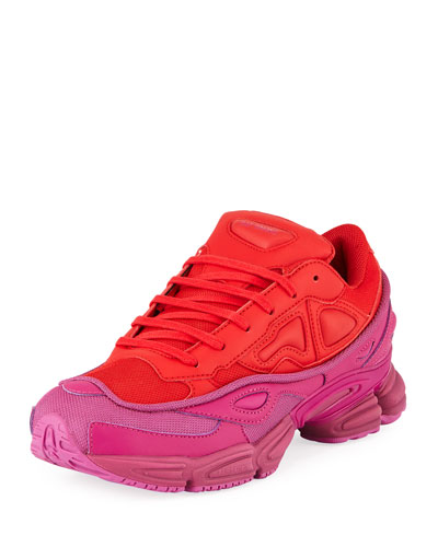 detailed look ef43c 65ab5 Mens Ozweego Dipped Color Trainer Sneakers RedPurple Quick Look. adidas  by Raf Simons