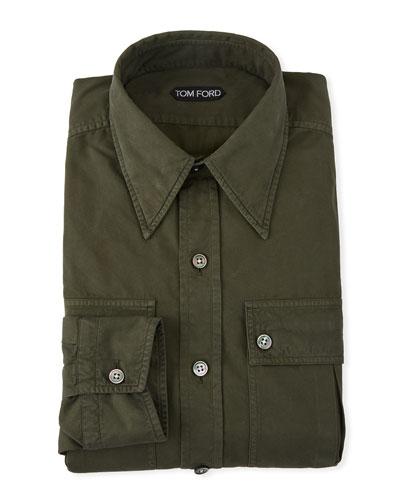 Men's Military Twill Dress Shirt