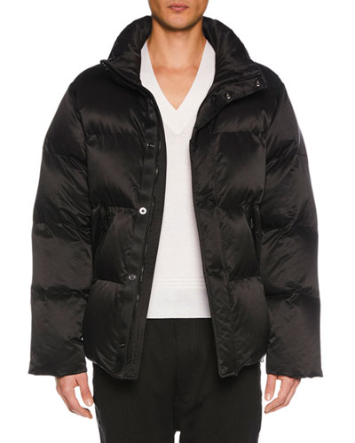 Men's Funnel-Neck Puffer Jacket