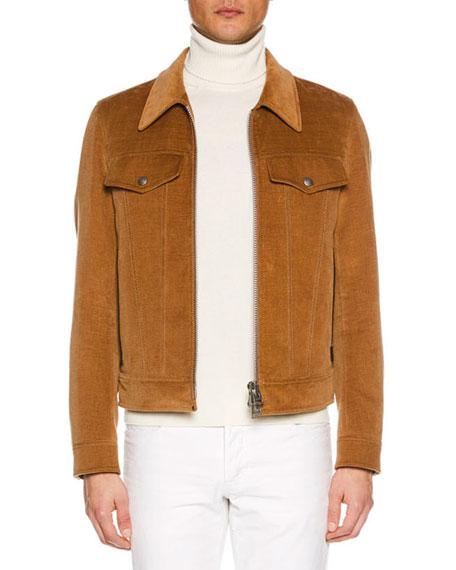 Men's Velvet Jean Jacket
