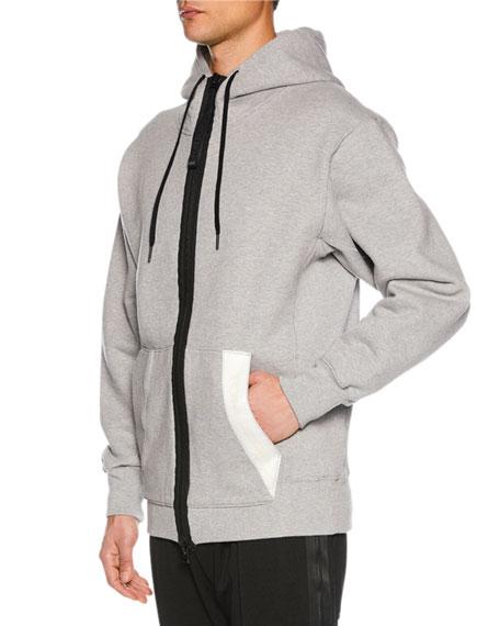 Men's Zip-Front Hoodie Sweatshirt, Gray