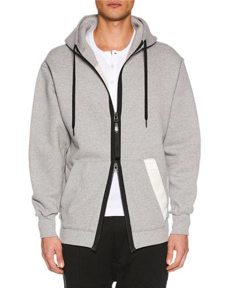 TOM FORD Men's Zip-Front Hoodie Sweatshirt, Gray