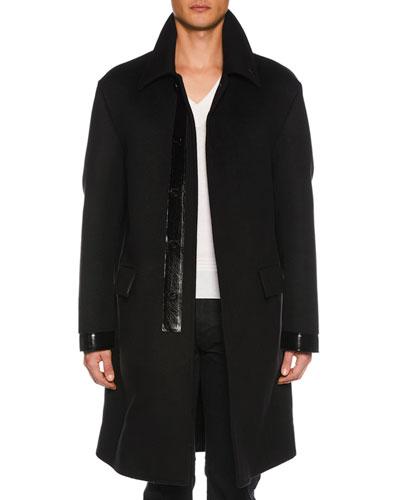Men's Long Wool Coat