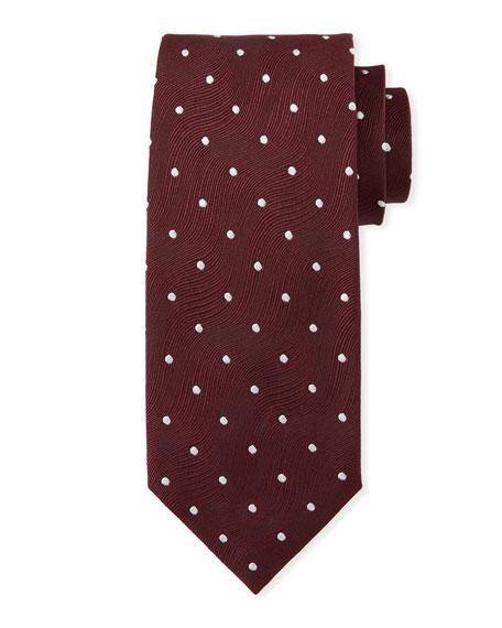 TOM FORD Polka-Dot Wave Silk Tie