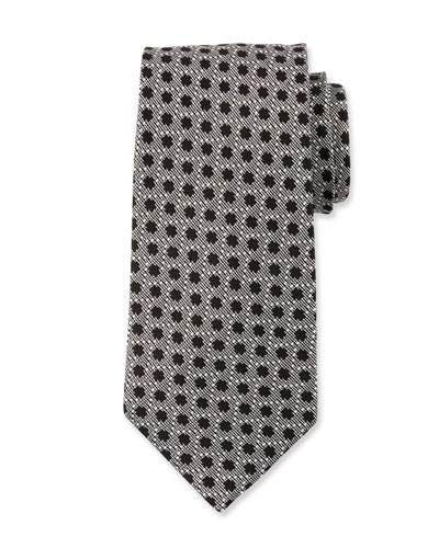 Large Polka-Dot Silk Tie