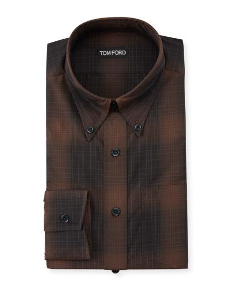 TOM FORD Men's Check Dress Shirt