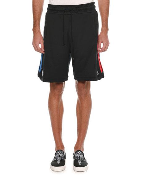 Marcelo Burlon Men's NBA Graphic Band Sweat Shorts