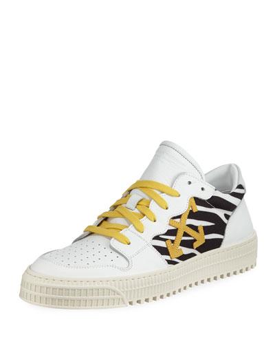 Men's 3.0 Polo Mid-Top Zebra-Print Leather Sneakers