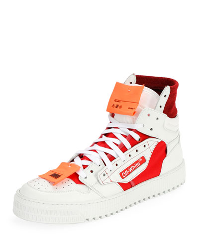 Men's Off Court Tumbled Sneakers, White/Red