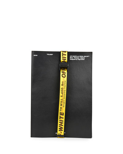 Men's Leather Industrial-Strap Document Holder