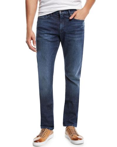 Men's L'Homme Slim Straight-Leg Denim Jeans