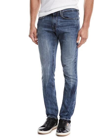 Men's L'Homme Slim Straight-Leg Jeans