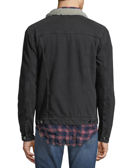Men's Sherpa-Trim Jean Jacket