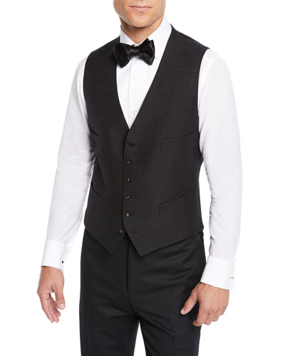 Men's Pearl-Button Evening Gilet