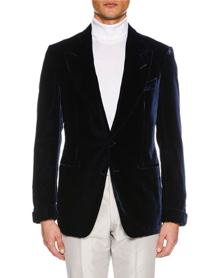 TOM FORD Men's Shelton Base Liquid Velvet Jacket