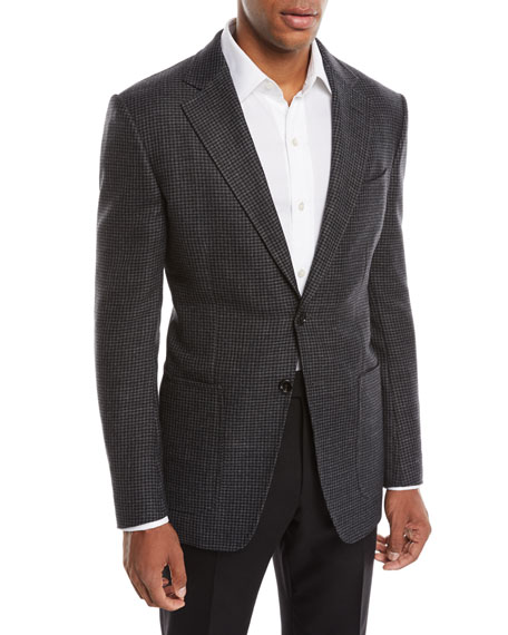 Men's O'Connor Wool/Cashmere Houndstooth Blazer Jacket