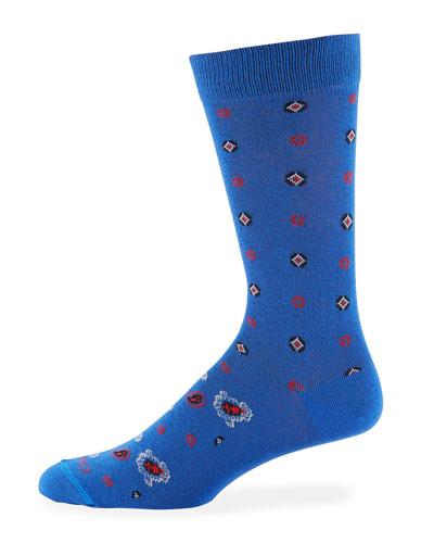 Men's Geometric Paisley Socks