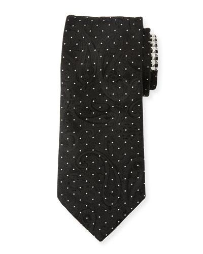 Men's Contrast-Print Formal Silk Tie