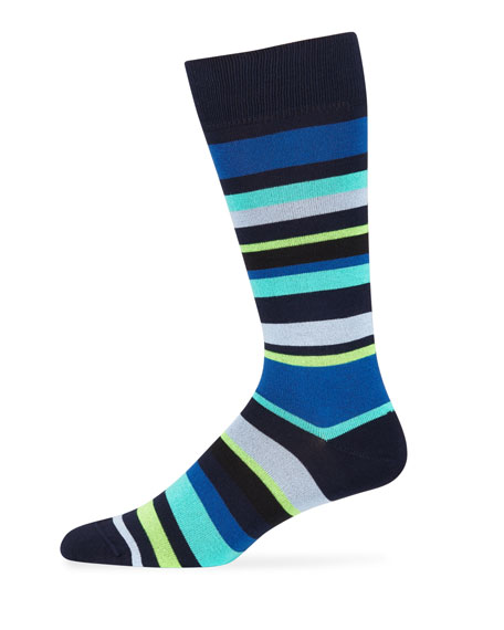 Paul Smith Men's Bangor Stripe Cotton-Blend Socks