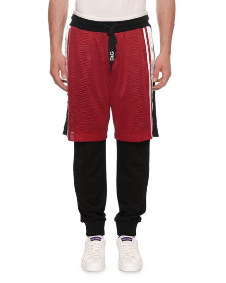 Dolce & Gabbana Men's Jogger Pants with Basketball