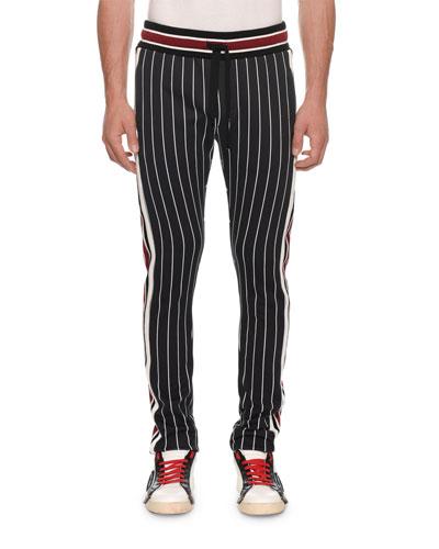 Men's Striped Knit Jogger Pants
