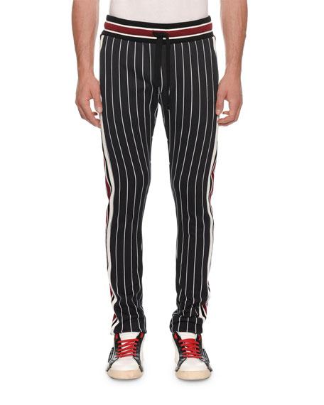 Dolce & Gabbana Men's Striped Knit Jogger Pants