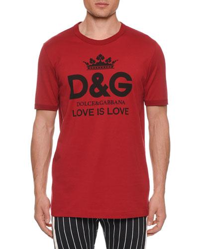 Men's D&G Logo Love Is Love T-Shirt