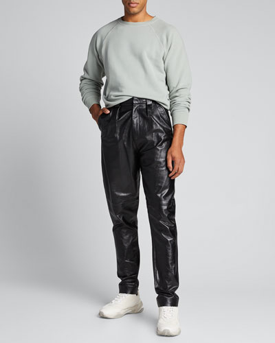 Men's Formal Lamb Leather Trousers