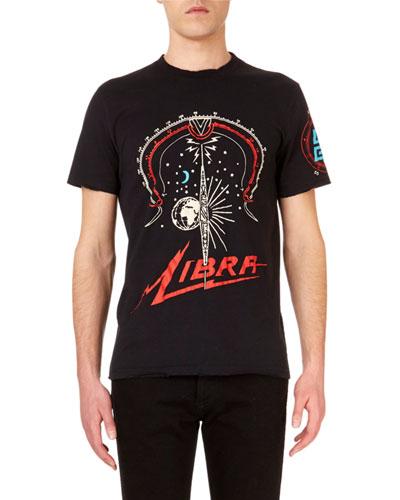 Libra Graphic Crewneck Short-Sleeve T-Shirt