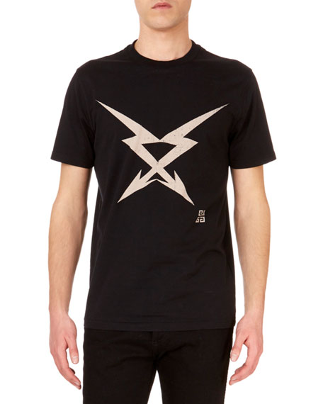 Men's Double-Arrow Graphic Cotton Tee