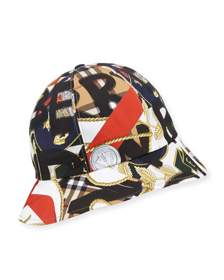 17077449a05f0 Burberry Men s Medal Vintage Check Bucket Hat