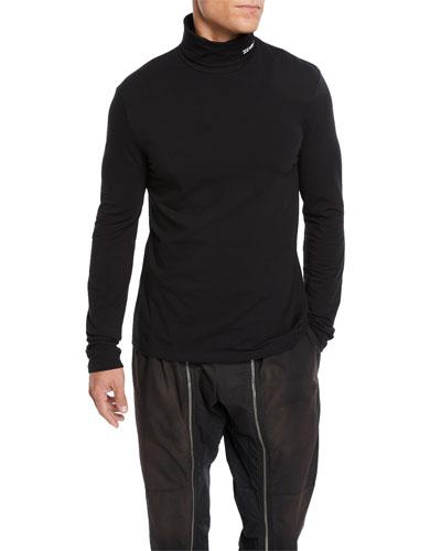 Men's Stretch-Cotton Jersey Turtleneck Sweater