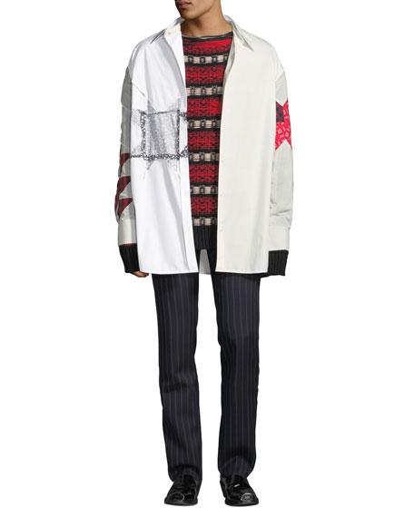 CALVIN KLEIN 205W39NYC Men's Extra Light Plain-Weave Shirt