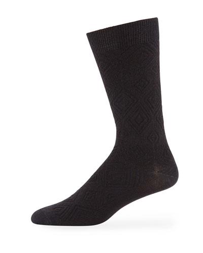 Men's MB Textured Wool-Blend Socks