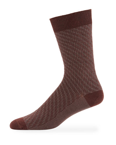Men's RF Textured Wool-Blend Socks