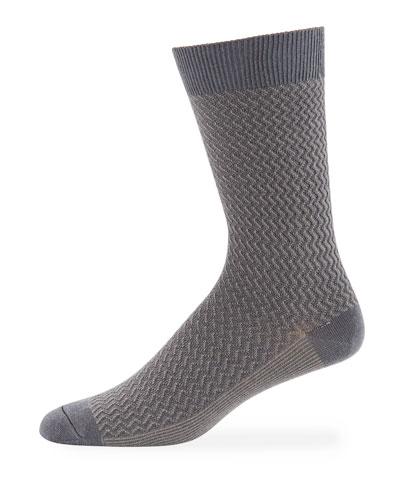 Men's DT Textured Wool-Blend Socks