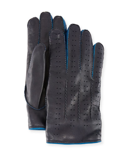 Men's Two-Tone Leather Gloves