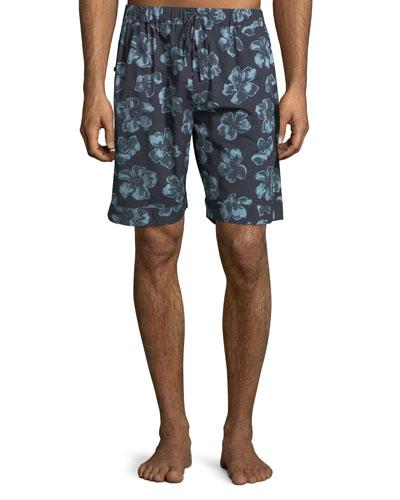 Men's Floral-Print Lounge Shorts