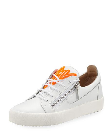 Giuseppe Zanotti Men's Felted Signature Low-Top Sneakers