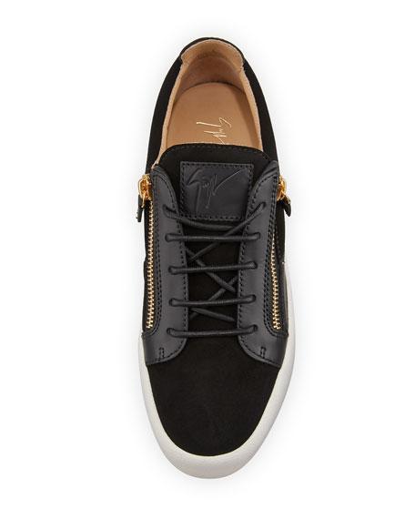 Men's Suede & Leather Low-Top Sneakers