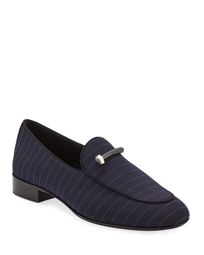 Men's Pinstriped Formal Loafers