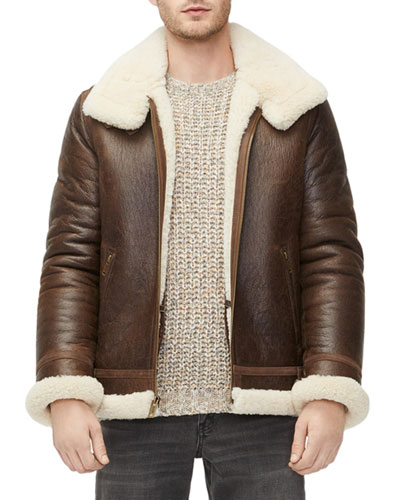 Men's Auden Shearling-Lined Aviator Jacket