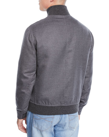 Men's Cashmere Bomber Jacket