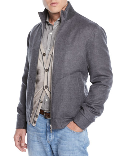 Men's Cashmere Bomber Jacket