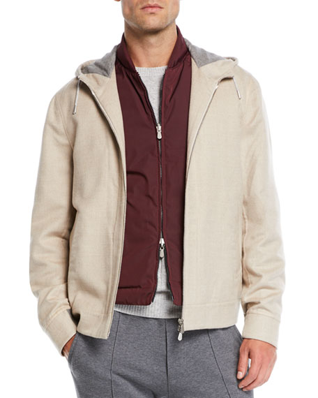 Men's Hooded Cashmere Jacket