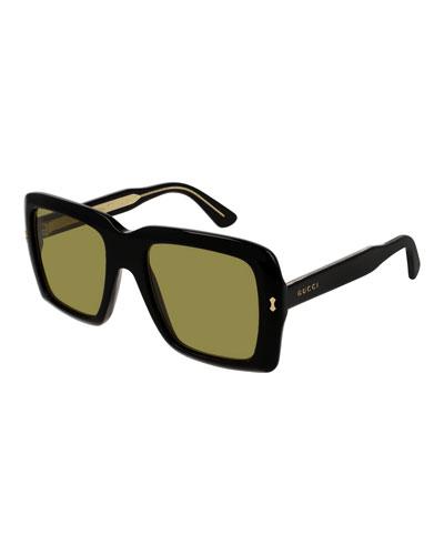 Unisex Bold Acetate Sunglasses