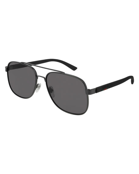 Gucci Men's GG0422S001M Aviator Sunglasses