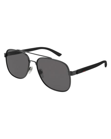71d560249fa Gucci Men s GG0422S001M Aviator Sunglasses